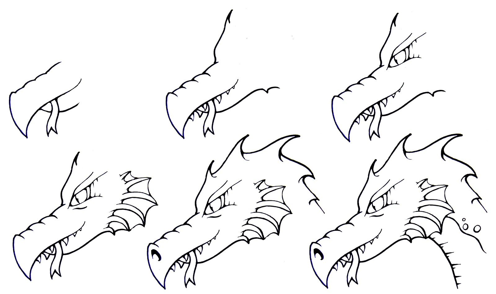 Drawing Dragons Step By Step How To Draw A Dragon: Stepstep | Daryl Hobson Artwork