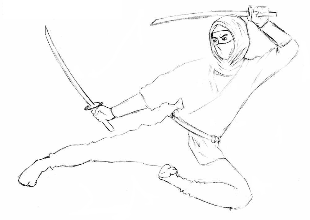 7-How-to-Draw-a-Ninja