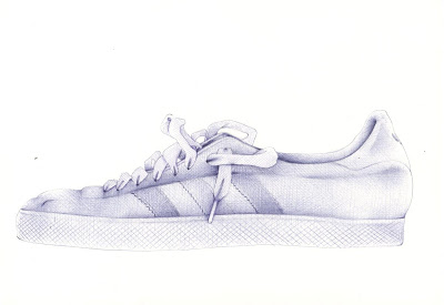 How to draw shoes from the front