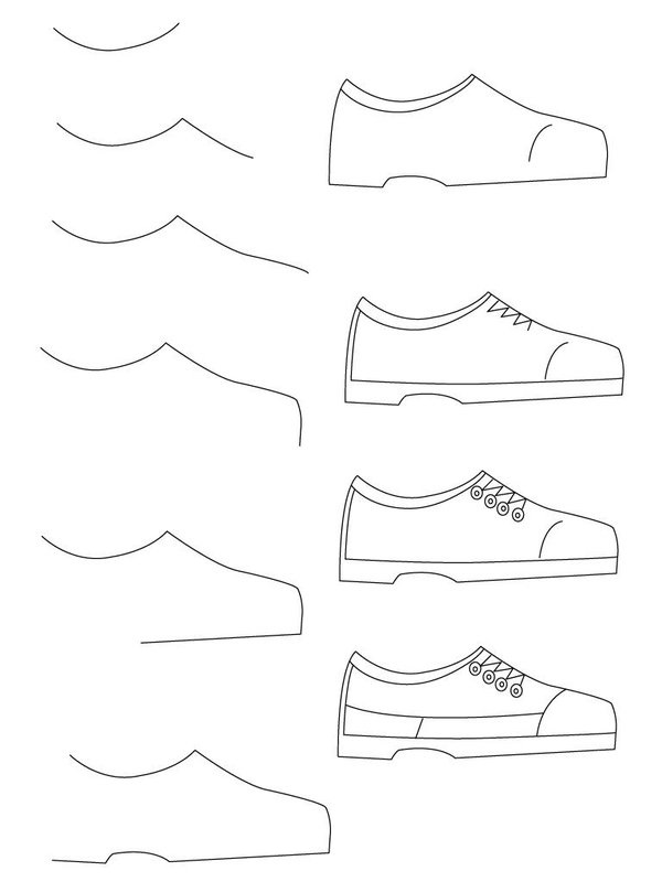 How to draw shoes anime