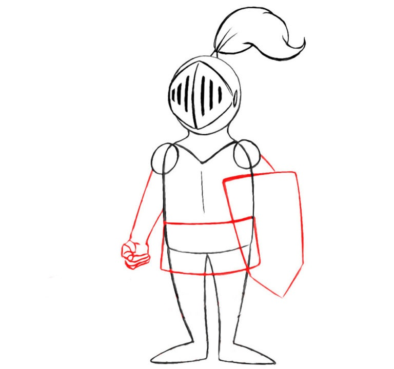 6-step-by-step-drawing-knight-768×720