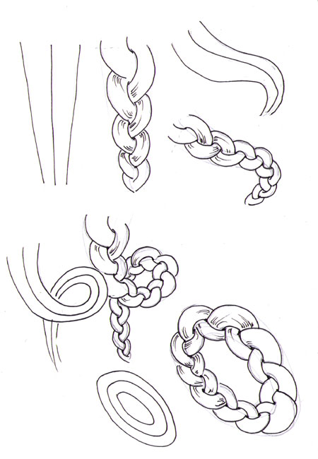 Step by Step to Draw a Braid