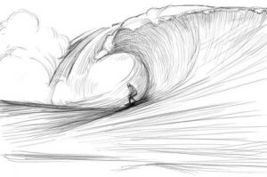 How to draw waterfall and waves