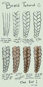 How to Draw Box Braids