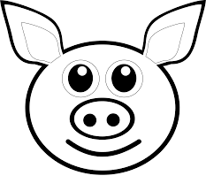 How to Draw a Pig face