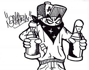 Way to draw graffiti characters