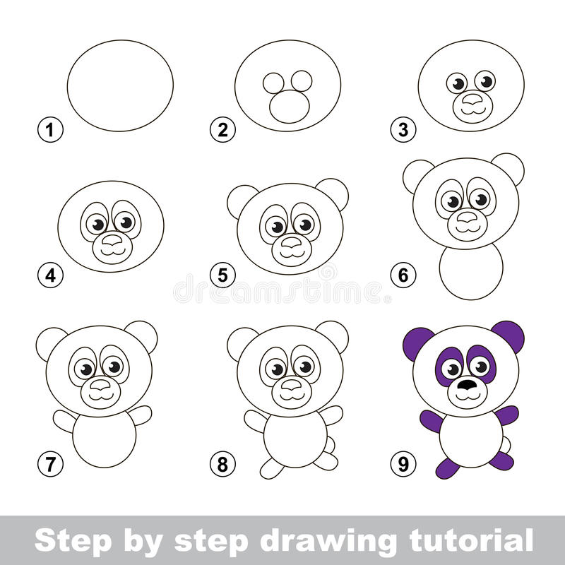 Easy to Draw a Panda