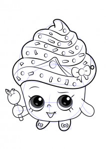 Methods to Draw Shopkins Cupcake Queen