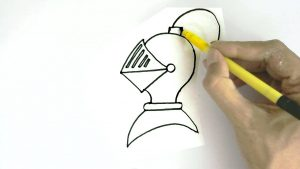 How to Draw a Knight Helmet