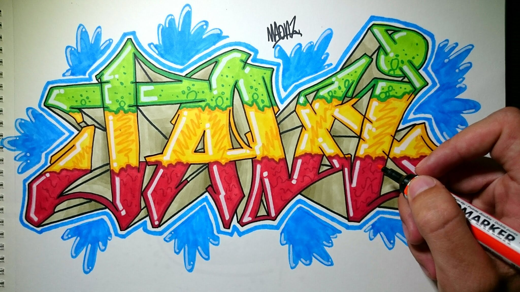 Draw graffiti on paper