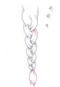Step by Step to Draw a Braid