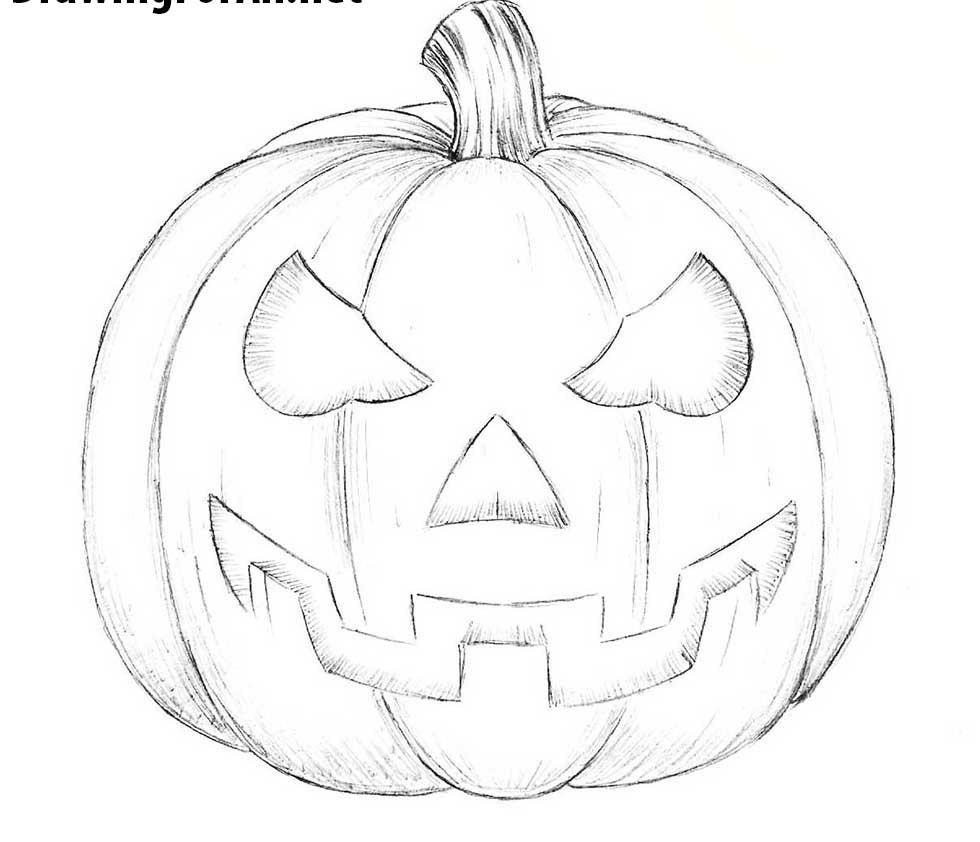 how-to-draw-a-halloween-pumpkin