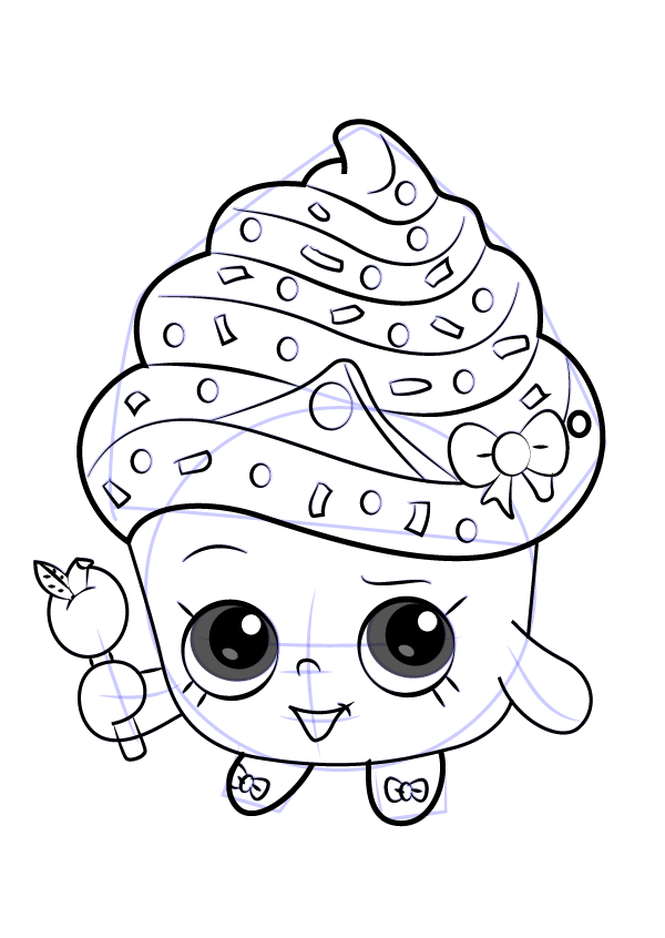 how-to-draw-Cupcake-Queen-from-Shopkins-step-9